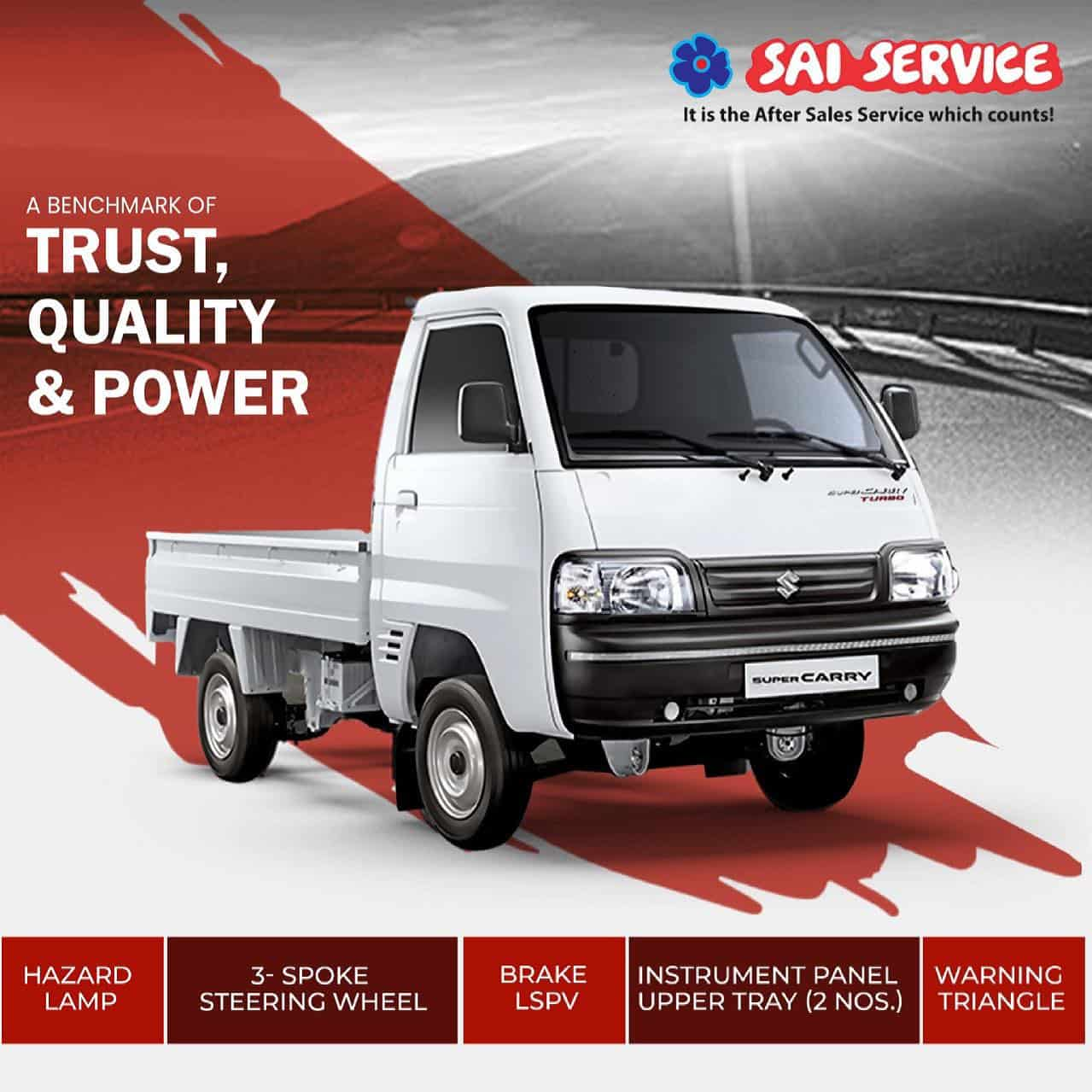 Picture of social media management for Sai Service Mini Truck